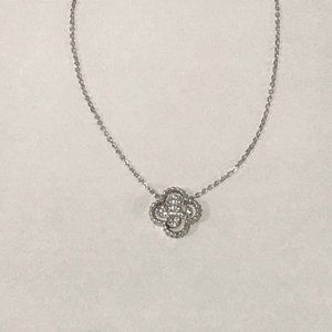 Jewelry - Dainty Silver Rhinestone Pendant Necklace